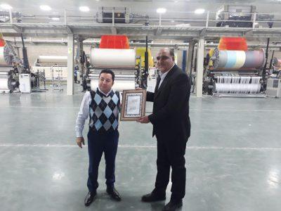 بازدید از خطوط تولید کارخانه حوله یاس سپید مشهد (سلین)